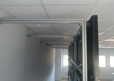 divisalia_mamparas para video wall_estructura interior_1
