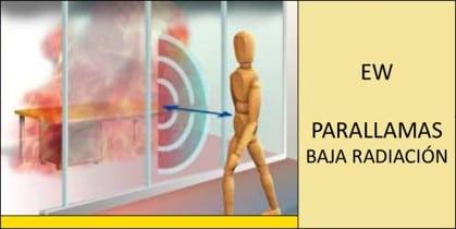 sistema de vidrio cortafuegos_parallamas de baja radiación_EW